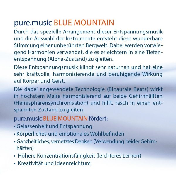 Cover Pure Music Blue Mountain 2